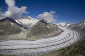 View on Aletsch glacier from Eggishorn mount, Switzerland — Stock Photo