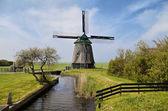 Old wind mill in Holland — Stock Photo