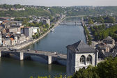 View from fort on Meuse river in Huy — ストック写真