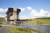 Strepy-Thieu boat lift on the Canal du Centre — Stock Photo
