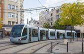 Modern tram in Valenciennes — Stock Photo