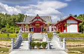 Red House in china's traditional stile — Stock Photo