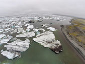 Aerial view on Jokulsarlon Glacier Lagoon — Stock Photo