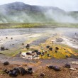 Mineral depositions in geothermal area Geysir — Stock Photo #47887257