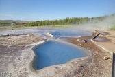 Mineral hot spring Blesi in geothermal area — Stock Photo