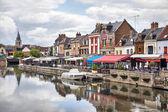 Belu embankment in Amiens, France — Stock Photo