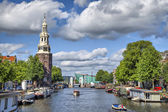 View on the famous Munttoren tower — 图库照片
