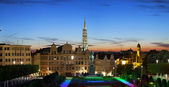 Evening panorama of Brussels — Stock Photo