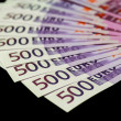 Stock Photo: 500 euro bills
