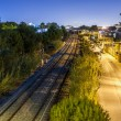 Train rails in night — Stock Photo #38814581
