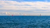 Yacht race and seascape — Stock Photo