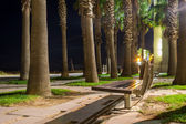 Bench in the night — Stockfoto