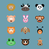 Animal face icon vector — Stock Vector