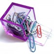 Paperclips Box — Stock Photo