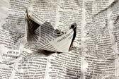 Zeitung-boot in den nachrichten — Foto de Stock