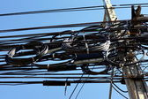 Electric Cables Mess — 图库照片