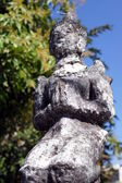 Old Thai Prayer Statue — Stock Photo