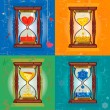 图库矢量图片: Illustration with hourglass