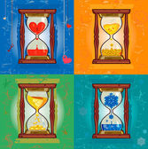 Illustration with hourglass — Stock Vector
