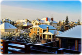 Roofs covered with snow — Stockfoto