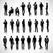 Silhouettes of business men — Stock Vector