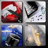 Music instruments — Stock Vector