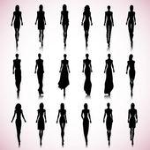 Runway women — Stock Vector