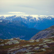 NorwegiLandscape on Road to Trolltunga, Norway — Stock Photo #35763383