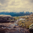 NorwegiLandscape on Road to Trolltunga, Norway — Stock Photo #35763427