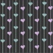Graphic pattern with hearts — Imagen vectorial