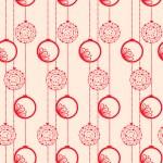 Christmas ball seamless pattern — Stock Vector