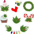 Vector illustration of Christmas decorations — Grafika wektorowa