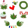 Vector illustration of Christmas decorations — Image vectorielle