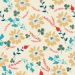 Vector floral card seamless pattern — Stock Vector