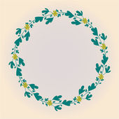 Vector floral circle background — Stok Vektör
