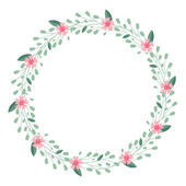 Vector floral circle background — Stock Vector