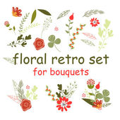 Floral retro set — Stock Vector