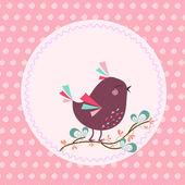 Cartoon birds vector illustration for children's — Stock Vector