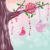 Cute illustration in romantic style — Stock Vector