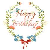 Kwiatowy ramki. rama z dzikich kwiatów na urodziny życzenia i inne święta — Wektor stockowy