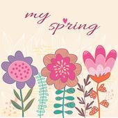 тема ярко background.spring в векторе. — Cтоковый вектор