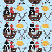 Cartoon pirates. vector illustration — Stock Vector