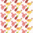 Cute kids seamless pattern. — Stock Vector