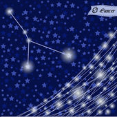 Cancer zodiac sign of the bright star — 图库矢量图片