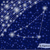 Capricorn zodiac sign of the bright stars — 图库矢量图片