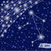 Libra zodiac sign of the bright stars — Cтоковый вектор