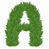 A. alphabet buchstaben aus blättern — Stockvektor