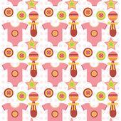 Cute kids seamless pattern. — 图库矢量图片