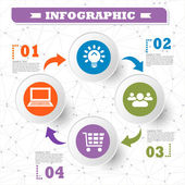 Elements of infographics for business and statistics. vector — 图库矢量图片