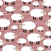 Sheep seamless background. vector illustration — Stock Vector